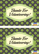 Volunteer Appreciation Postcards Template