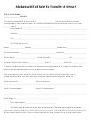 Alabama Bill Of Sale To Transfer A Vessel Form