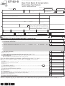 Form Ct-32-s - New York Bank S Corporation Franchise Tax Return - 2013
