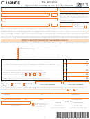 Form It-140nrs - Special Nonresident Income Tax Return - 2013