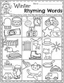 Rhyming Words Coloring Sheet