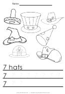 7 Hats Tracing Sheet