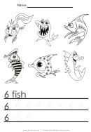 6 Fish Tracing Sheet