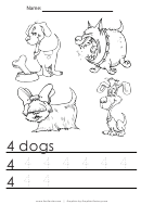 4 Dogs Tracing Sheet