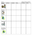 Weekly Planning Sheet Template