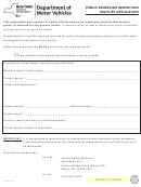 Form Vs-94 - Public Emissions Inspection Waitlist Application
