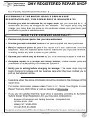 Form Vs-47 - Dmv Registered Repair Shop