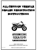 Form Rv-2 - All-terrain Vehicle Dealer Registration Instructions