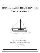 Form Rv-1 - Boat Dealer Registration Instructions