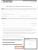 Form Mv-908 - Salvage Vehicle Waiver
