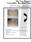 The Very Hungry Caterpillar Retelling Prop Game Card Template