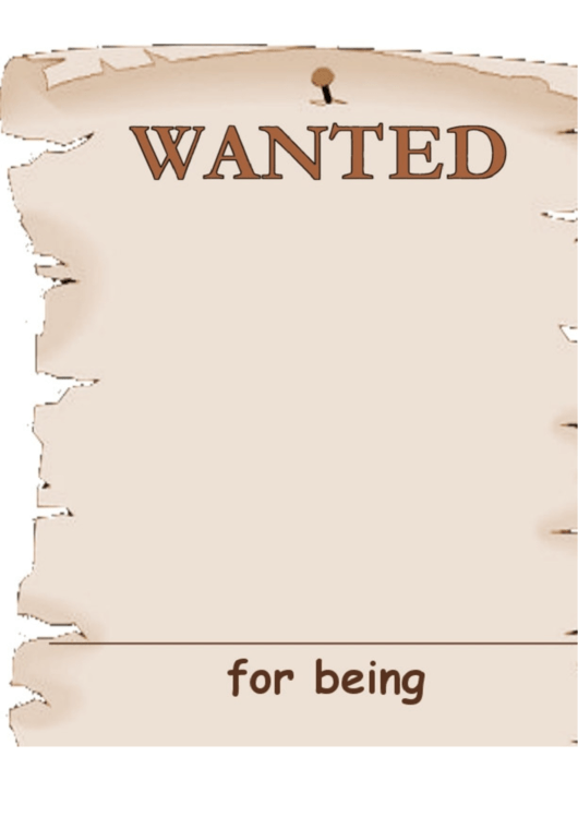 Wanted For Being Poster Template