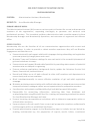 Position Description Template - Administrative Assistant - Membership