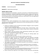 Position Description Template - Membership Specialist