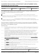 Form Wtw Eoa1 - Calworks Educational Opportunity And Attainment (eoa) Program Application Form
