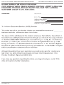 Form Soc 2288 - In-home Supportive Services Program State Administrative Review Request Response Letter To Provider Rescinding Third Violation Or Fourth Violation For Exceeding Workweek And/or Travel Time Limits