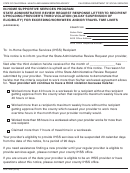 Form Soc 2287 - In-home Supportive Services Program State Administrative Review Request Response Letter To Recipient Upholding Provider's Third Violation