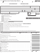 Form 3 - Wisconsin Partnership Return - 2016