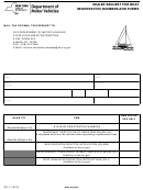 Form Pd-1 - Dealer Request For Boatregistration Numbers And Forms