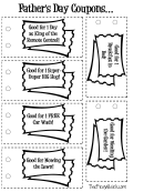 Father's Day Coupons Templates