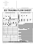 Ed Trauma Flow Sheet