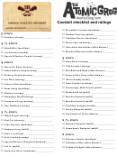 Cocktail Checklist Template And Ratings - The Atomic Grog