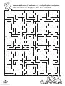 Thanksgiving Dinner Maze Template