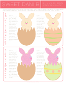 Easter Bunny In Egg Cookie Template