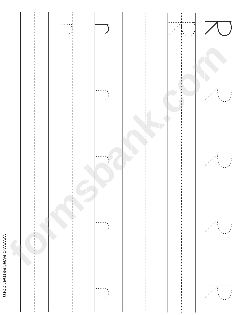 Childrens Letter R Handwriting Practice Sheets For Preschool
