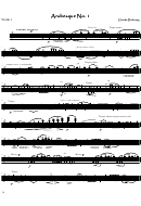 Claude Debussy - Arabesque No1 Violin Sheet Music