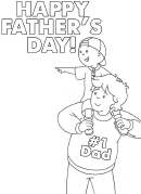 Happy Father's Day Holiday Coloring Sheets