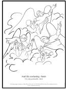 Angels Coloring Sheet