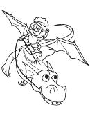 Dragon-knight Coloring Sheet