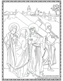 The Carrying Of The Cross By Jesus Coloring Sheet