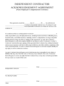 Independent Contractor Acknowledgement Agreement (non-employee Compensation Contract)