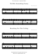Peter Edvinsson - Tell Me Something Funny, Reaching For The Ceiling Sheet Music
