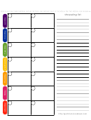 2 Weeks Meal Planner With Shopping List Template