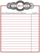 Self-imposed Assignments/accomplishments To Do List Template
