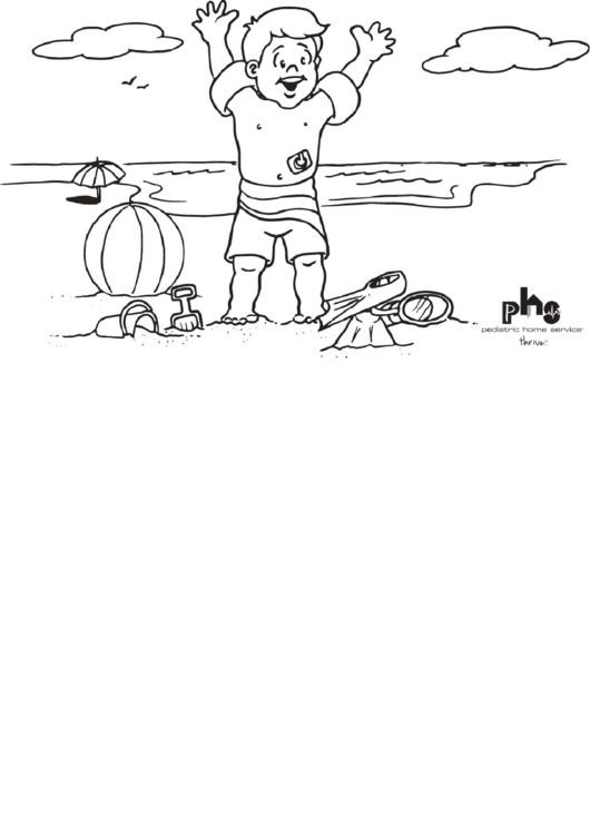 A Day At The Beach Coloring Sheets