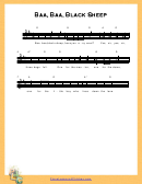 Baa, Baa, Black Sheep Sheet Music