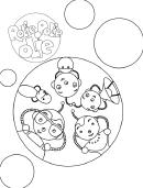 Rolie Polie Olie Robots Coloring Sheet