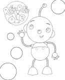 Rolie Polie Olie Robot Coloring Sheet