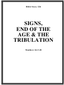 Signs, End Of The Age & The Tribulation Bible Activity Sheet Set