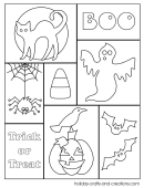 Halloween Collage Halloween Coloring Sheets