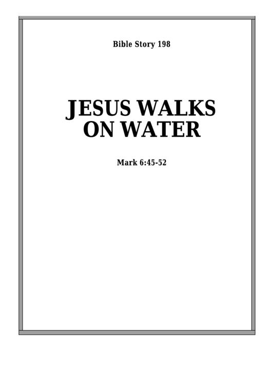 Jesus Walks On The Water Bible Activity Sheet Set