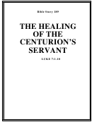 The Healing Of The Centurion's Servant Bible Activity Sheet Set