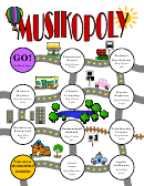 Musikopoly Activity Sheet