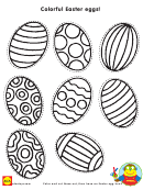 Easter Eggs Coloring Sheet