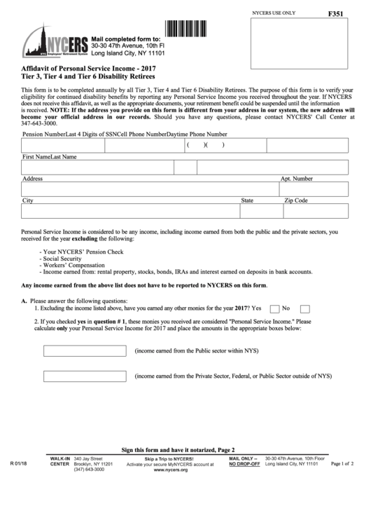 Top 12 Nycers Forms And Templates free to download in PDF format