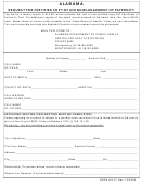 Form Adph-hs-21 - Alabama Request For Certified Copy Of Acknowledgement Of Paternity